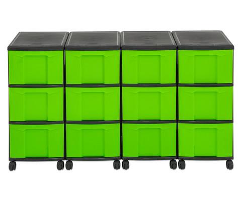Flexeo Container-System 4 Reihen 12 grosse Boxen HxBxT 66x120x38 cm-36