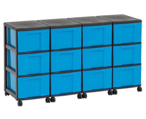 Flexeo Container-System 4 Reihen 12 grosse Boxen HxBxT 66x120x38 cm-25