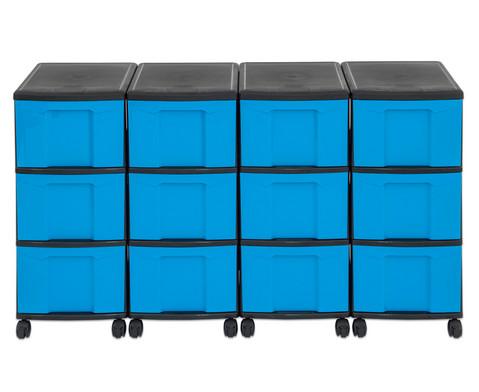 Flexeo Container-System 4 Reihen 12 grosse Boxen HxBxT 66x120x38 cm-26