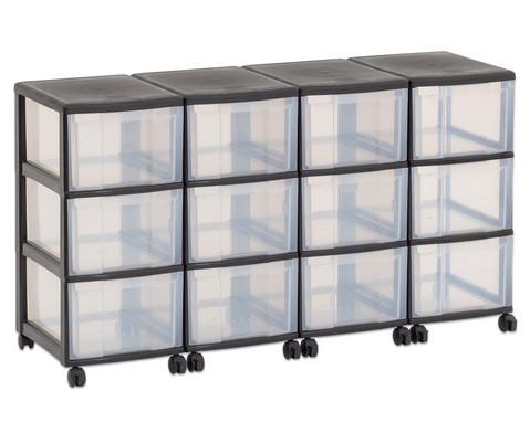 Flexeo Container-System 4 Reihen 12 grosse Boxen HxBxT 66x120x38 cm-31