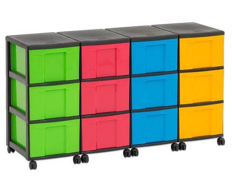 Flexeo Container-System 4 Reihen 12 grosse Boxen HxBxT 66x120x38 cm-37