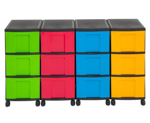 Flexeo Container-System 4 Reihen 12 grosse Boxen HxBxT 66x120x38 cm-38
