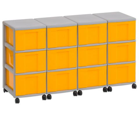 Flexeo Container-System 4 Reihen 12 grosse Boxen HxBxT 66x120x38 cm-23