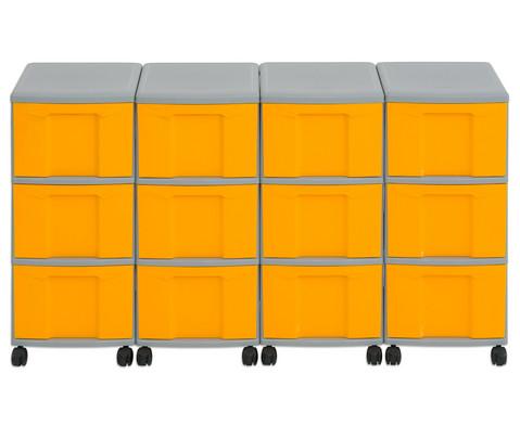 Flexeo Container-System 4 Reihen 12 grosse Boxen HxBxT 66x120x38 cm-24