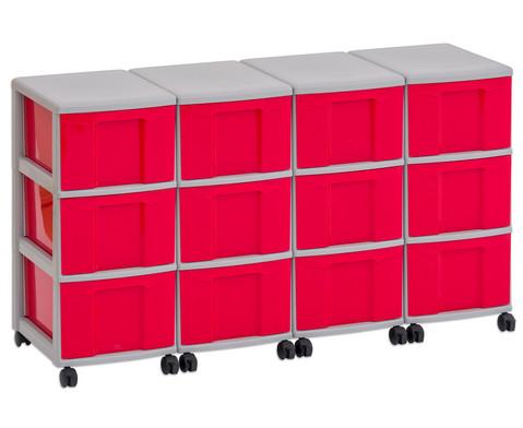 Flexeo Container-System 4 Reihen 12 grosse Boxen HxBxT 66x120x38 cm-15
