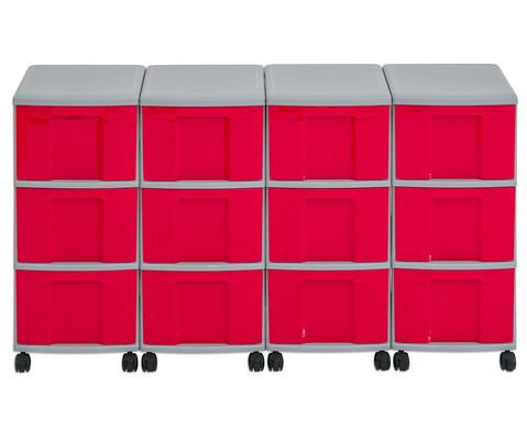 Flexeo Container-System 4 Reihen 12 grosse Boxen HxBxT 66x120x38 cm-16
