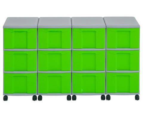 Flexeo Container-System 4 Reihen 12 grosse Boxen HxBxT 66x120x38 cm-14