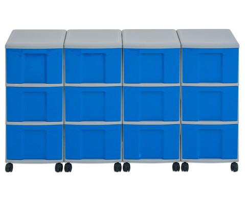 Flexeo Container-System 4 Reihen 12 grosse Boxen HxBxT 66x120x38 cm-10