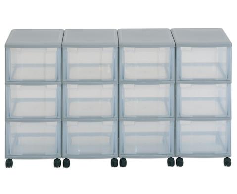Flexeo Container-System 4 Reihen 12 grosse Boxen HxBxT 66x120x38 cm-34