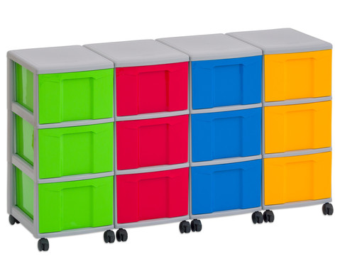 Flexeo Container-System 4 Reihen 12 grosse Boxen HxBxT 66x120x38 cm-29