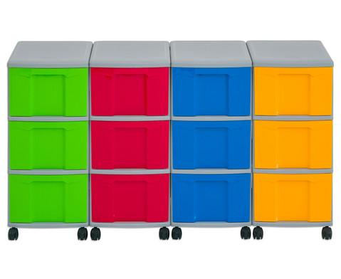 Flexeo Container-System 4 Reihen 12 grosse Boxen HxBxT 66x120x38 cm-30