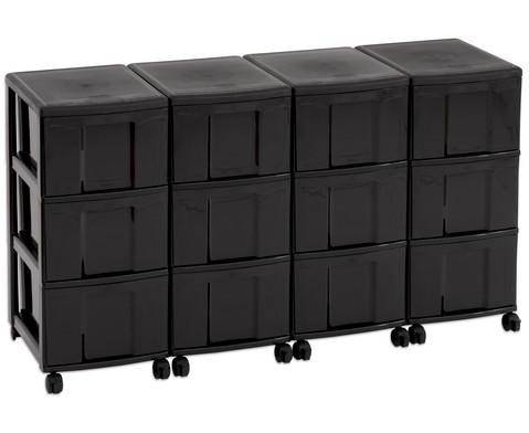 Flexeo Container-System 4 Reihen 12 grosse Boxen HxBxT 66x120x38 cm-19