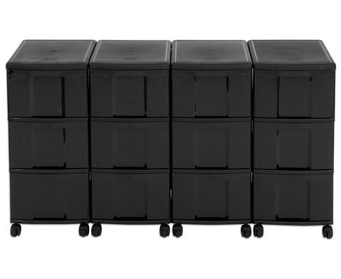 Flexeo Container-System 4 Reihen 12 grosse Boxen HxBxT 66x120x38 cm-20