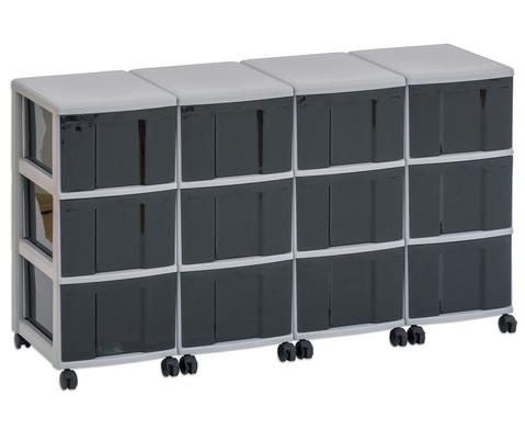 Flexeo Container-System 4 Reihen 12 grosse Boxen HxBxT 66x120x38 cm-11