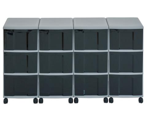 Flexeo Container-System 4 Reihen 12 grosse Boxen HxBxT 66x120x38 cm-12