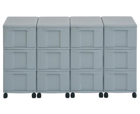 Flexeo Container-System 4 Reihen 12 grosse Boxen HxBxT 66x120x38 cm-22