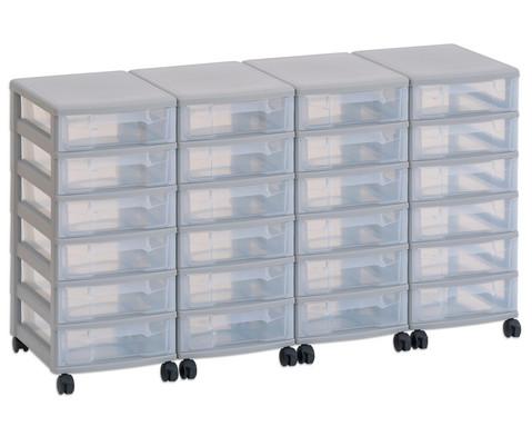 Flexeo Container-System 4 Reihen 24 kleine Boxen HxBxT 66x120x38 cm-1