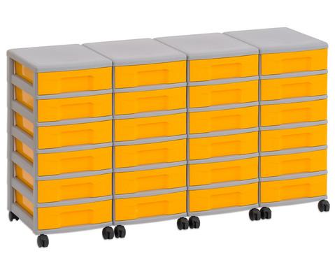 Flexeo Container-System 4 Reihen 24 kleine Boxen HxBxT 66x120x38 cm-2