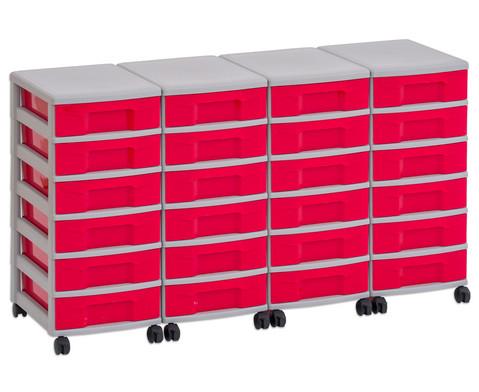 Flexeo Container-System 4 Reihen 24 kleine Boxen HxBxT 66x120x38 cm-3