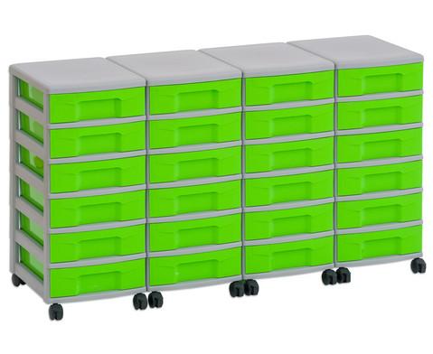 Flexeo Container-System 4 Reihen 24 kleine Boxen HxBxT 66x120x38 cm-5