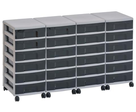 Flexeo Container-System 4 Reihen 24 kleine Boxen HxBxT 66x120x38 cm-6