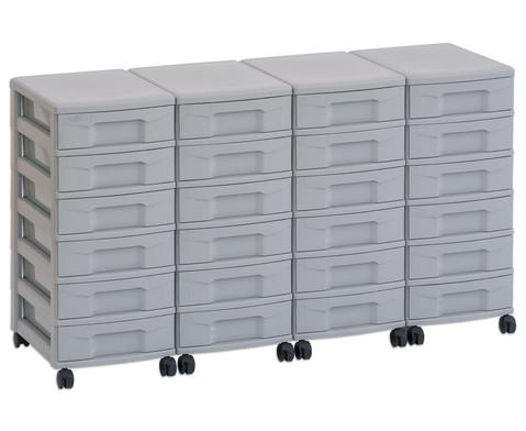Flexeo Container-System 4 Reihen 24 kleine Boxen HxBxT 66x120x38 cm-7