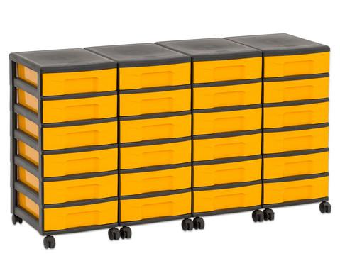 Flexeo Container-System 4 Reihen 24 kleine Boxen HxBxT 66x120x38 cm-33