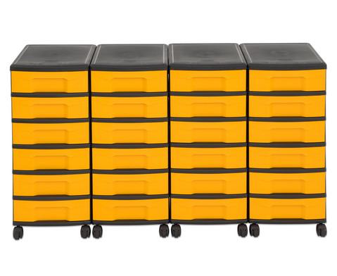 Flexeo Container-System 4 Reihen 24 kleine Boxen HxBxT 66x120x38 cm-32