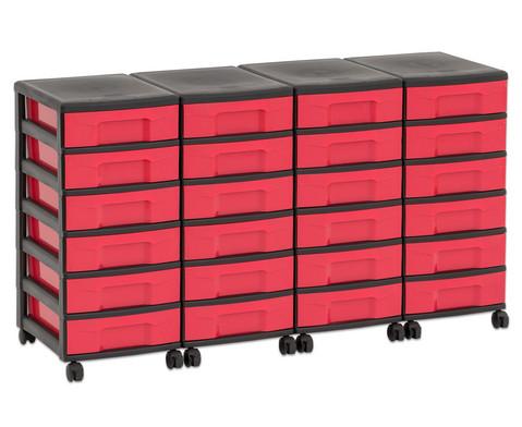Flexeo Container-System 4 Reihen 24 kleine Boxen HxBxT 66x120x38 cm-21