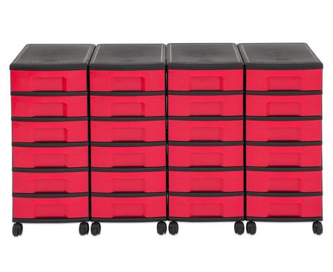 Flexeo Container-System 4 Reihen 24 kleine Boxen HxBxT 66x120x38 cm-34