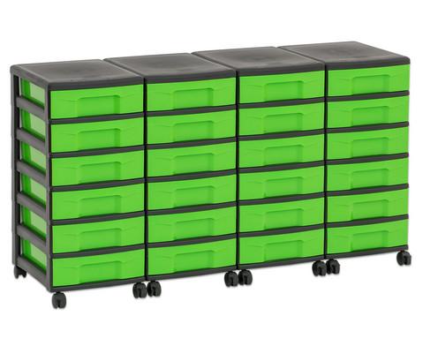 Flexeo Container-System 4 Reihen 24 kleine Boxen HxBxT 66x120x38 cm-23