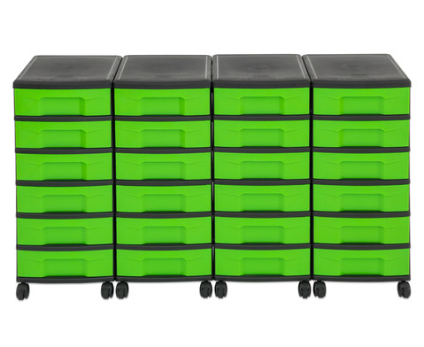 Flexeo Container-System 4 Reihen 24 kleine Boxen HxBxT 66x120x38 cm-24