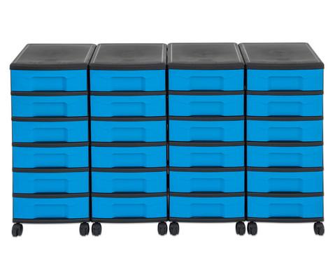 Flexeo Container-System 4 Reihen 24 kleine Boxen HxBxT 66x120x38 cm-28