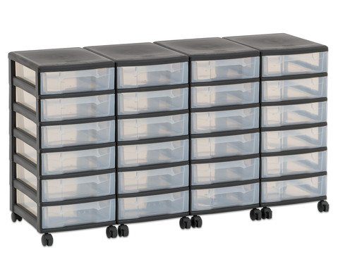 Flexeo Container-System 4 Reihen 24 kleine Boxen HxBxT 66x120x38 cm-22