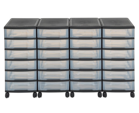 Flexeo Container-System 4 Reihen 24 kleine Boxen HxBxT 66x120x38 cm-14