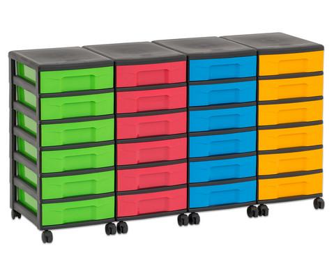Flexeo Container-System 4 Reihen 24 kleine Boxen HxBxT 66x120x38 cm-36