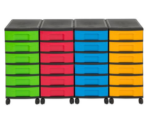 Flexeo Container-System 4 Reihen 24 kleine Boxen HxBxT 66x120x38 cm-37