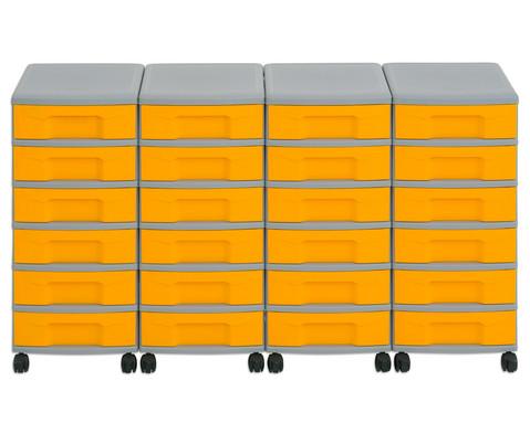 Flexeo Container-System 4 Reihen 24 kleine Boxen HxBxT 66x120x38 cm-13