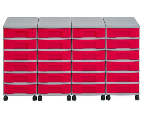 Flexeo Container-System 4 Reihen 24 kleine Boxen HxBxT 66x120x38 cm-38