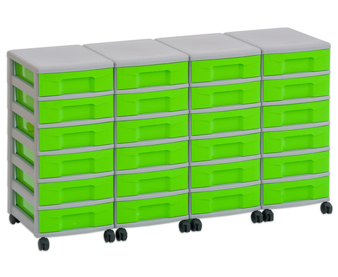 Flexeo Container-System 4 Reihen 24 kleine Boxen HxBxT 66x120x38 cm-16