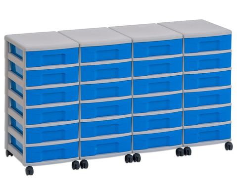 Flexeo Container-System 4 Reihen 24 kleine Boxen HxBxT 66x120x38 cm-11