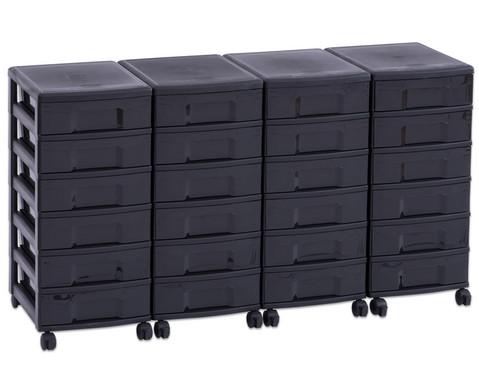 Flexeo Container-System 4 Reihen 24 kleine Boxen HxBxT 66x120x38 cm-15