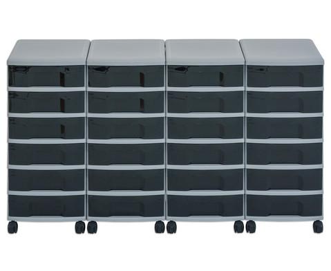 Flexeo Container-System 4 Reihen 24 kleine Boxen HxBxT 66x120x38 cm-19