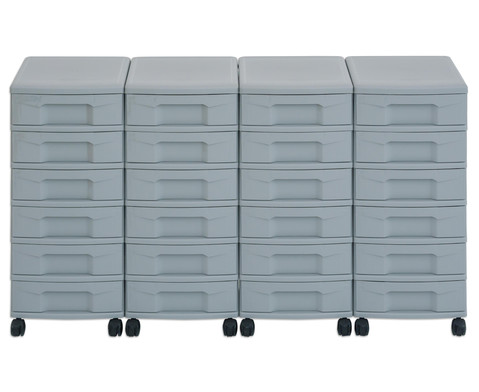 Flexeo Container-System 4 Reihen 24 kleine Boxen HxBxT 66x120x38 cm-30
