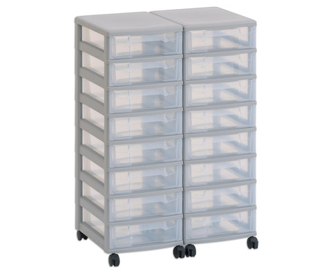 Flexeo Container-System 2 Reihen 16 kleine Boxen HxBxT 66x60x38 cm-1