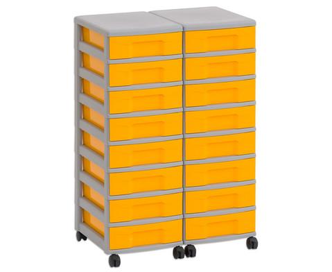 Flexeo Container-System 2 Reihen 16 kleine Boxen HxBxT 66x60x38 cm-2