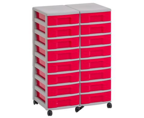 Flexeo Container-System 2 Reihen 16 kleine Boxen HxBxT 66x60x38 cm-3
