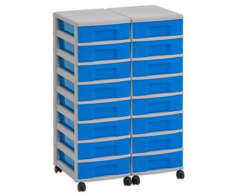 Flexeo Container-System 2 Reihen 16 kleine Boxen HxBxT 66x60x38 cm-5