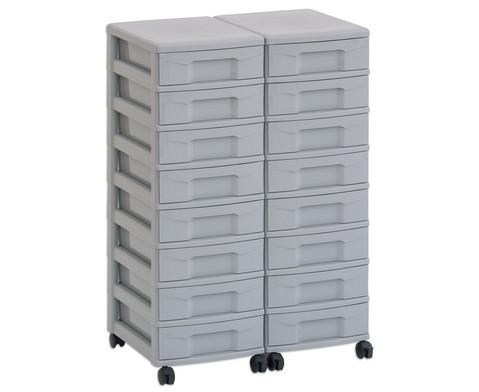 Flexeo Container-System 2 Reihen 16 kleine Boxen HxBxT 66x60x38 cm-6