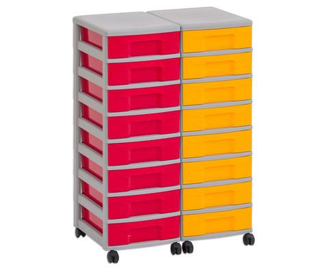 Flexeo Container-System 2 Reihen 16 kleine Boxen HxBxT 66x60x38 cm-8